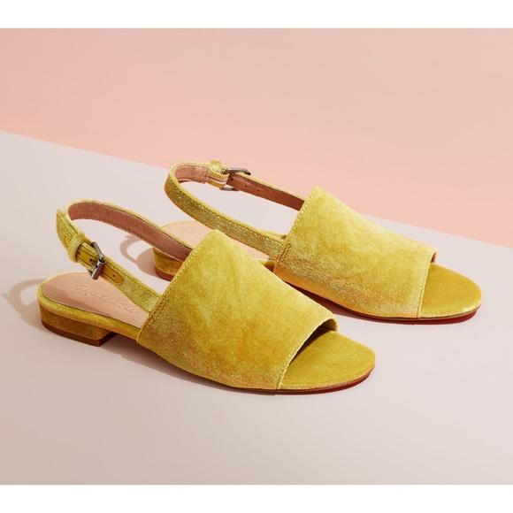 Madewell Noelle Slingback Velvet Shoes